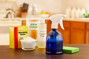 Keep cleaning supplies in multiple areas of the house